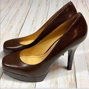 Nine West | Brown Leather Heels | 8.5